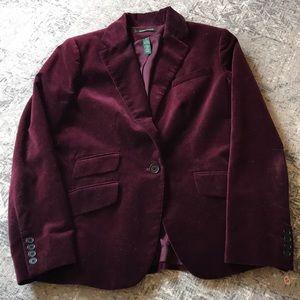 Ralph Lauren Wine Velvet Jacket